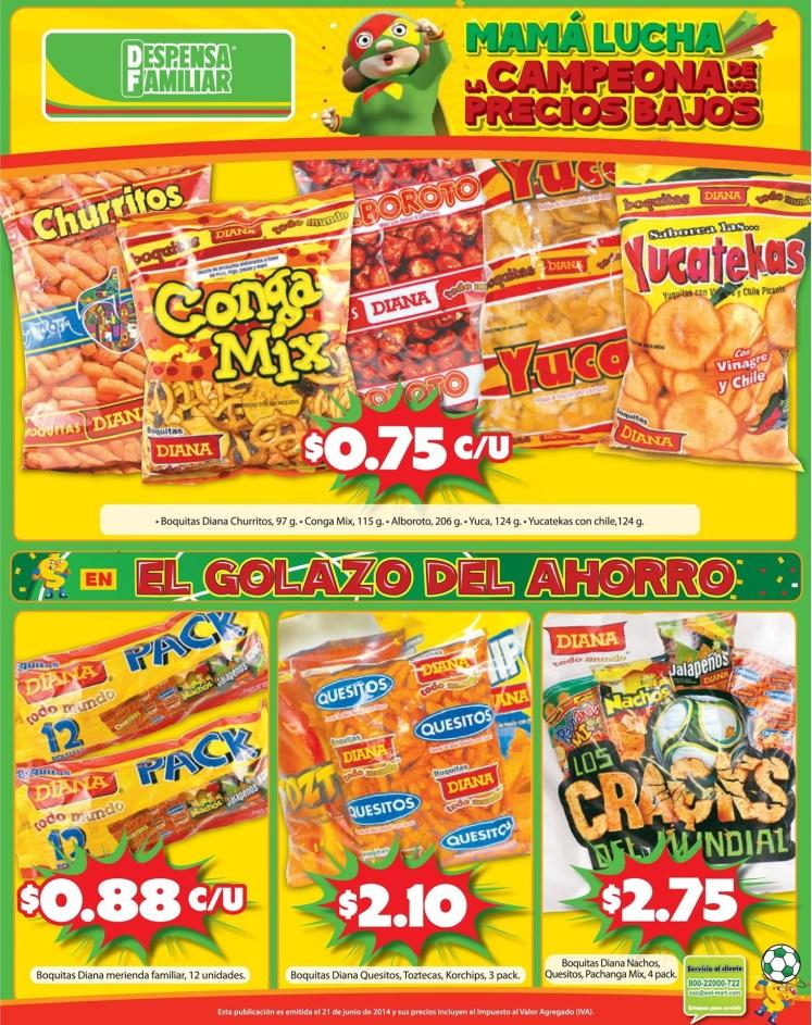 Promocion ahorro en snacks DESPENSA FAMILIAR ofertas - 21jun14