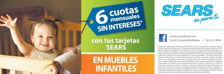 Tarjeta SEARS tiene promociones en muebles infantiles - 21jun14