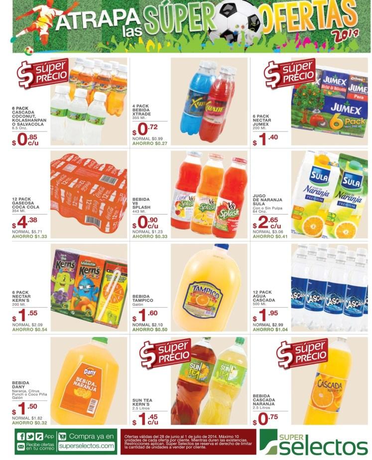 ofertas Bebidas para toda la familia SUPER SELECTOS - 28jun14