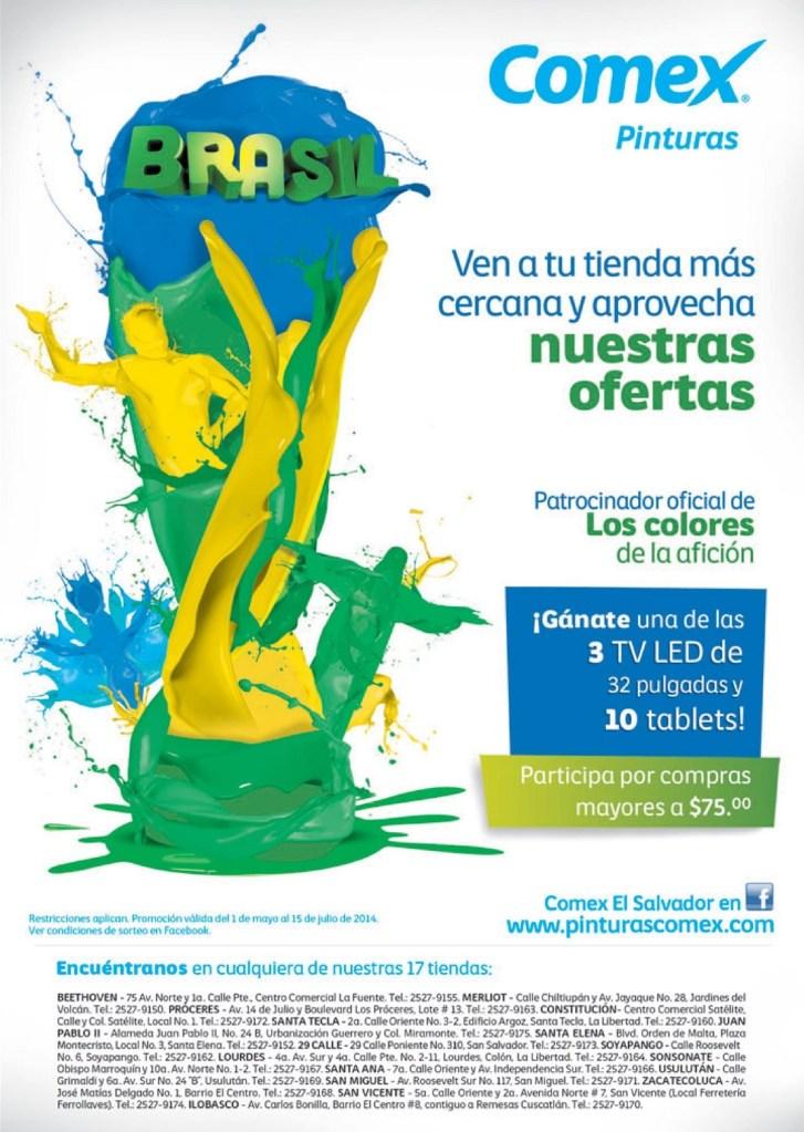 ofertas COMEX el salvador pinturas - 16jun14