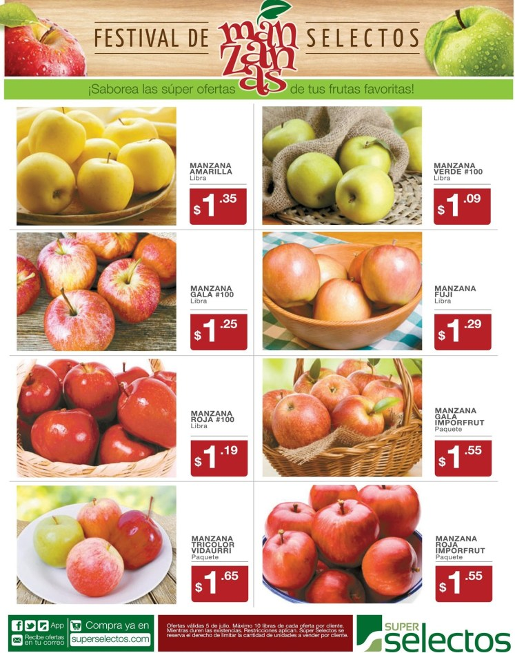 APPLE festival promociones SUPER SELECTOS - 05jul14