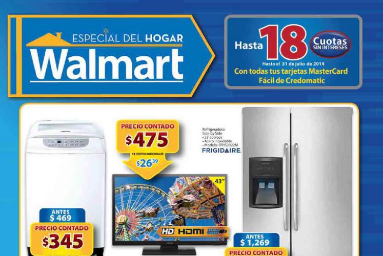 Catalogo ESPECIAL del Hogar Walmart Ofertas julio 2014
