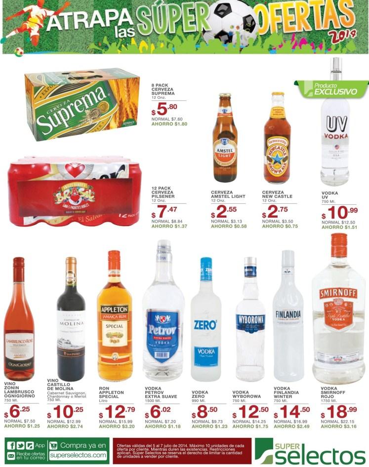Cerveza  new amstel  VODKAS y RONES super selectos - 05jul14