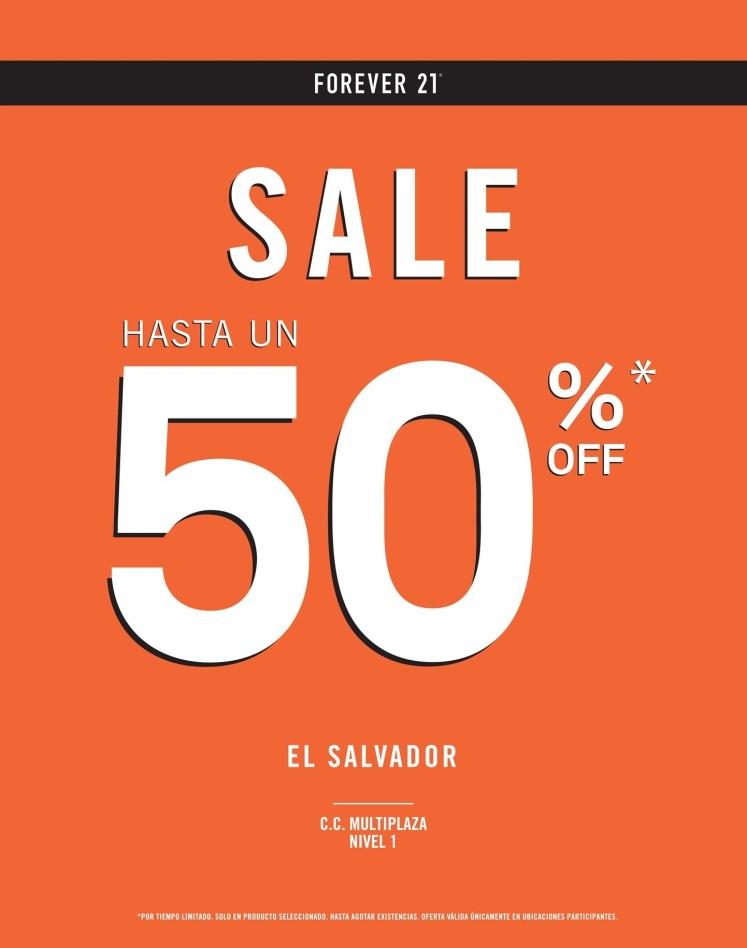REBAJES sale FOREVER 21 el salvador hasta 50 OFF - 07jul14