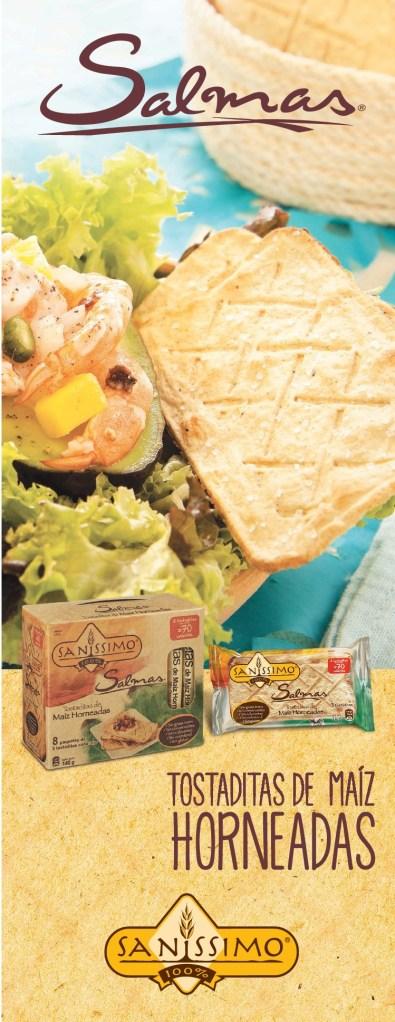 SANISSIMO tostadotas de maiz orneadas SALMAS