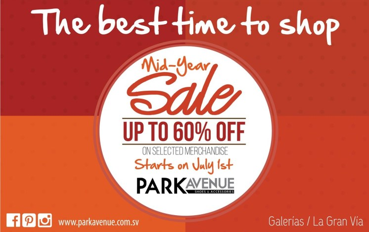 TIME to SHOP mid year sale DISCOUNTS park avenue - 01jul14