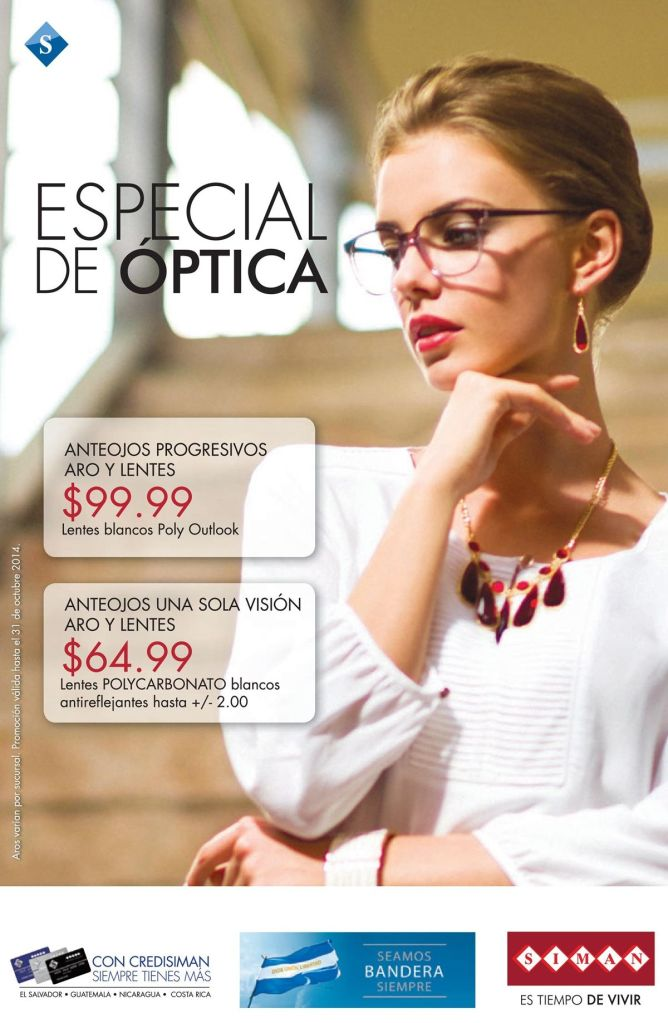 Anteojos promociones SALE optica siman - 18sep14