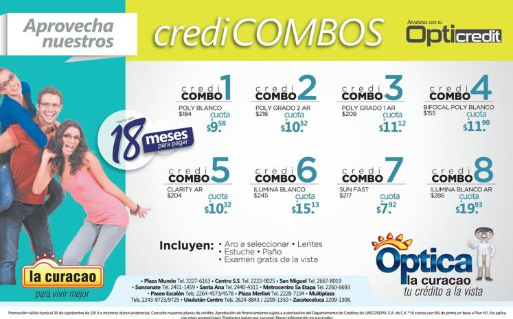 Opti creditos combos y mas La curacao - 18sep14