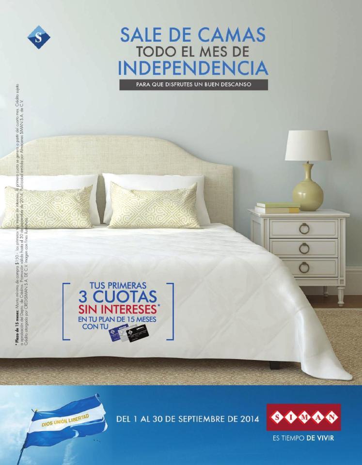 SALE DE CAMAS todo el mes de INDEPENDENCIA 2014