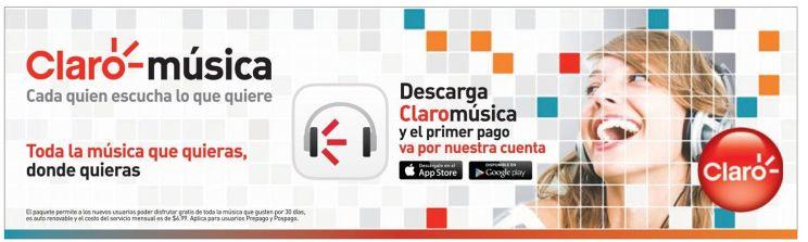Servicio de streaming de musica CLARO - 20sep14