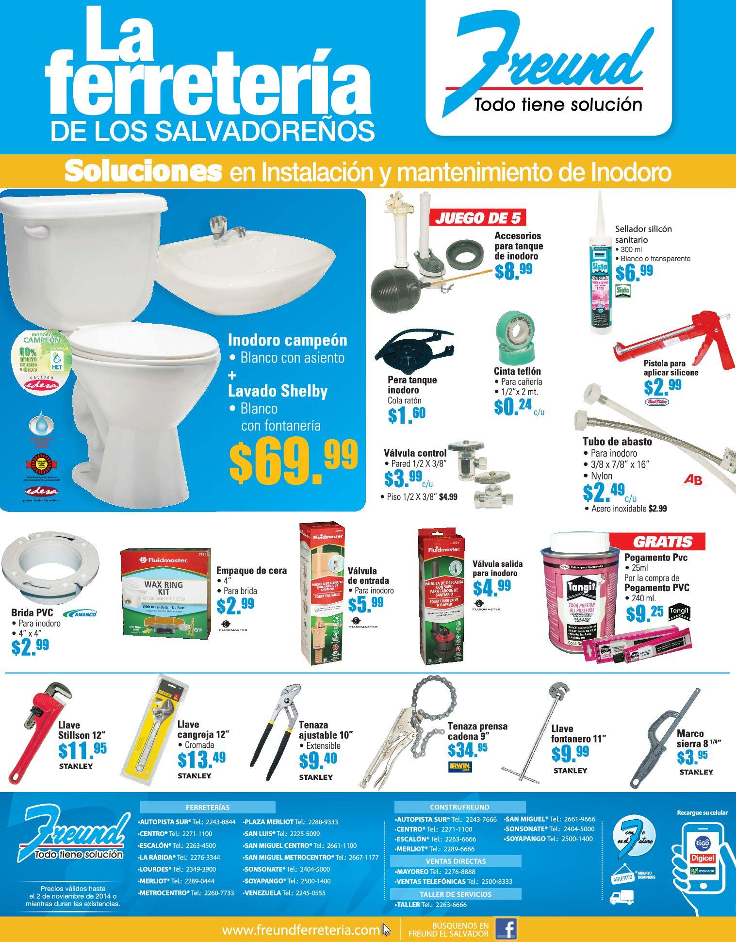 Accesorios De Baño Homecenter:Accesorios y equipo para tu baño FERRETERIA FREUND – 20oct14