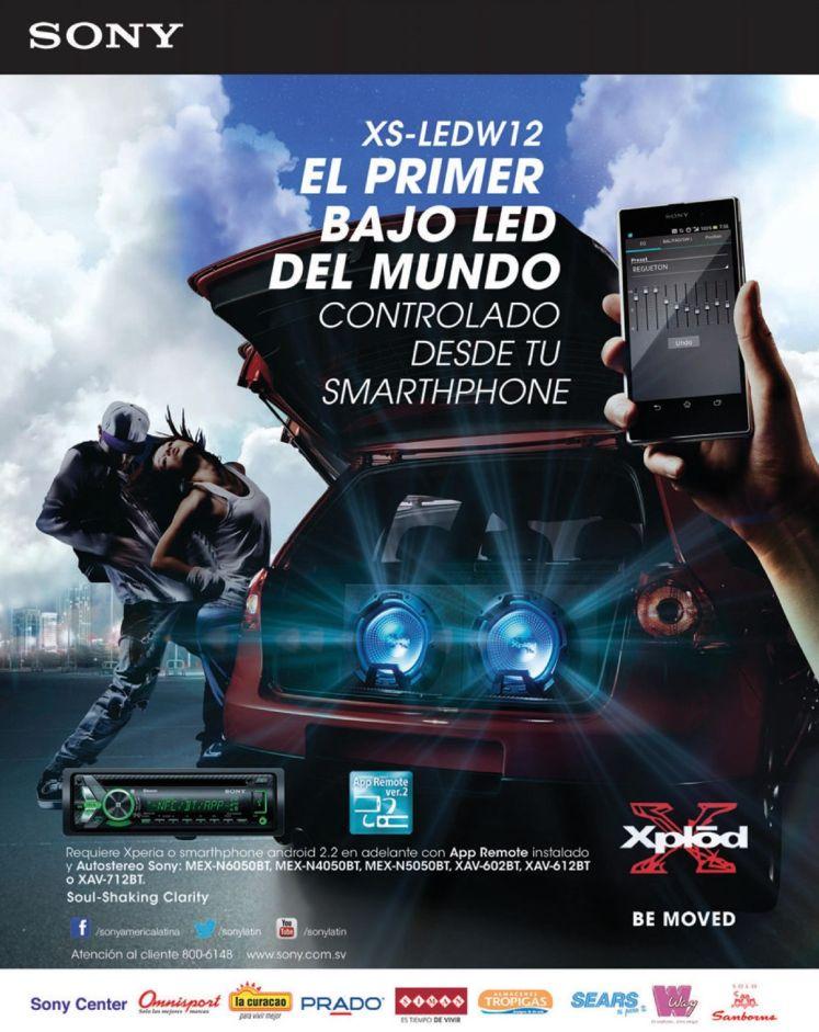 XPLOD sony el primer subwoofer LED