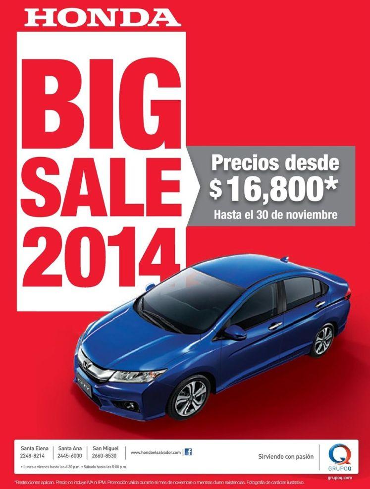 HONDA BIG SALE 2014 models - 12nov14