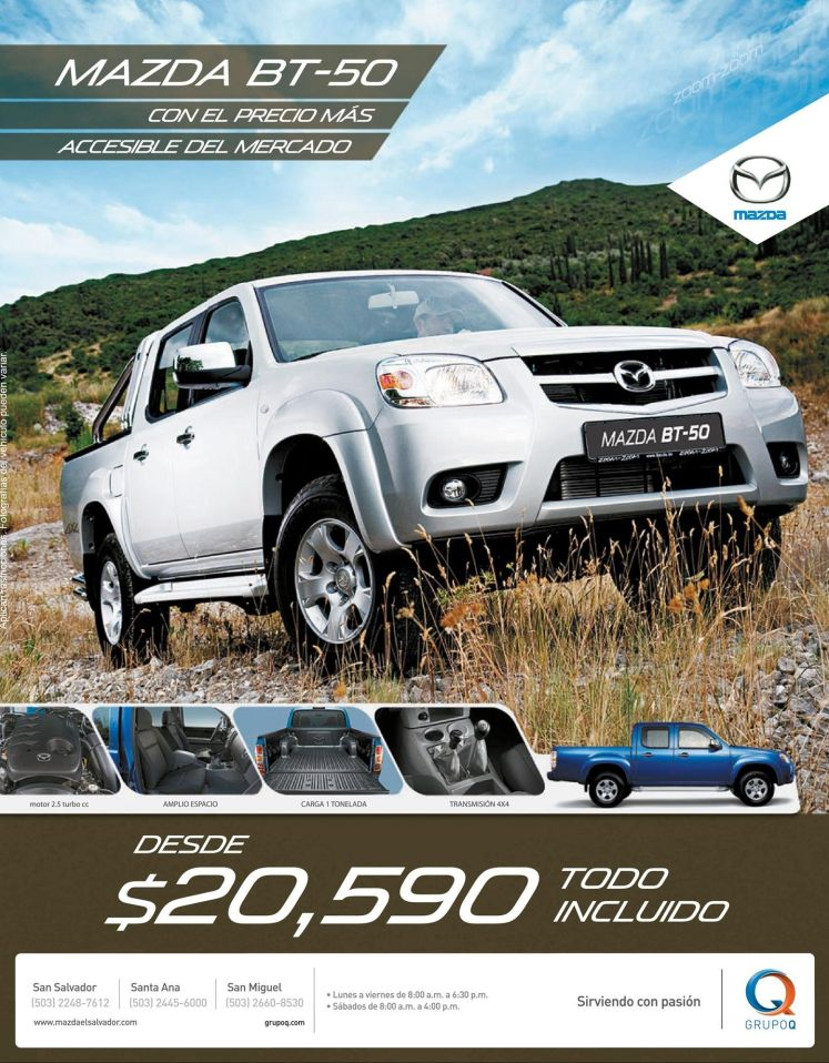 All include MAZDA BT-50 pickup 4x4 - 15dic14