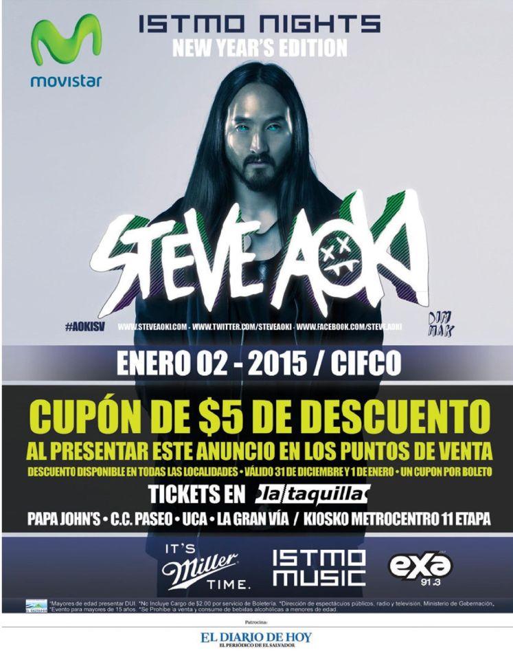 CUPON de descuento ISTMO music show