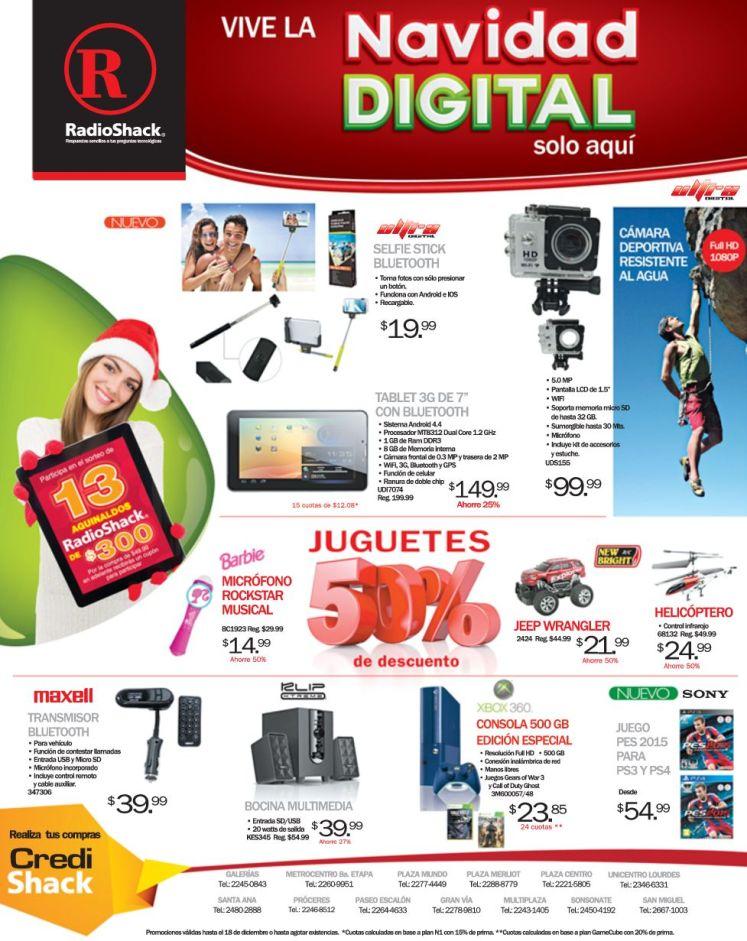 RADIO SHACK Promociones de navidad digital - 12dic14