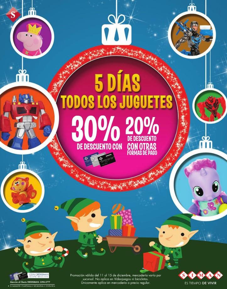 SIMAN descuentos Atencion 5 dias todos los juguetes para reghalar en navidad - 11dic14