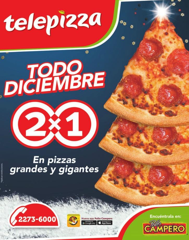 Telepizza todo diciembre 2014 promocion 2x1
