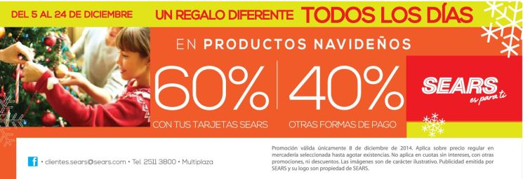 discounts CHRISTMAS accesories SEARS store - 08dic14