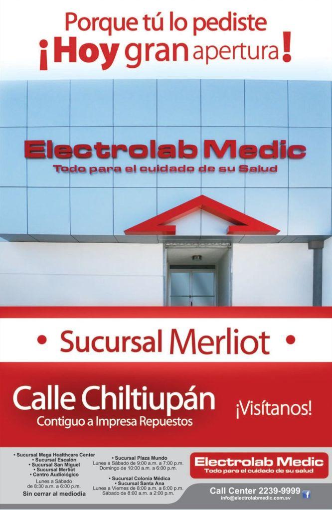 nueva sucursal ELECTRO LAB MEDIC merliot