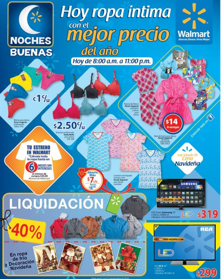 productos en Liquidacion WALMART ofertas ropa intima - 19dic14