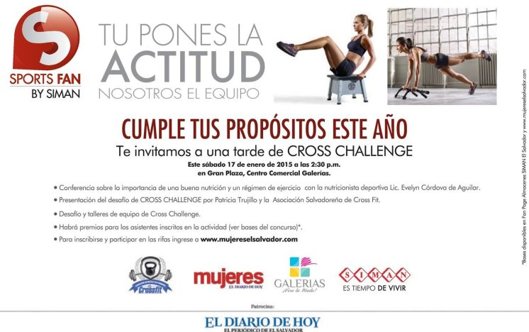 CROSS fit challenge Mujeres de el salvador - 12ene15