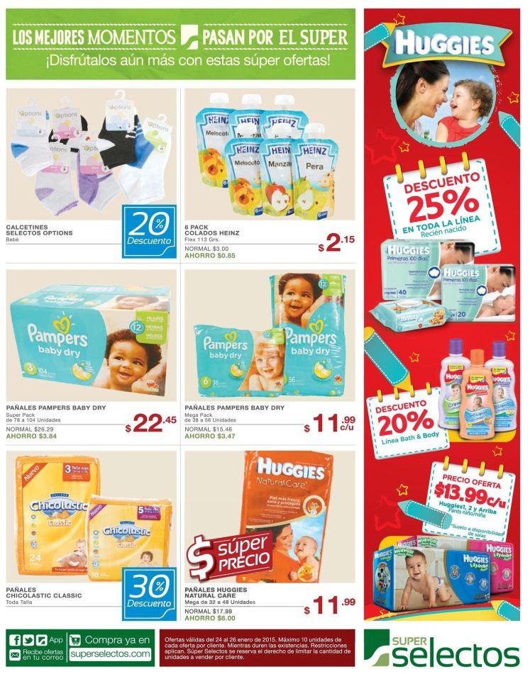 Descuento en productos de bebes selectos - 24ene15