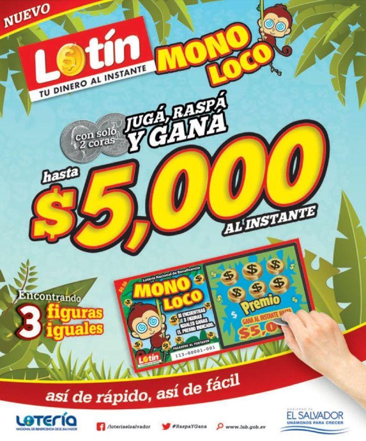 GAMBLIG el salvador LOTIN mono loco - 23ene15