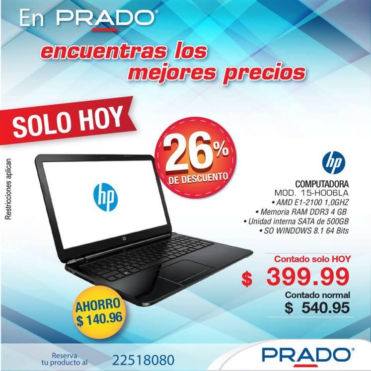 Tiendas PRADO computadoras HP ultimo dia hoy 15ene15