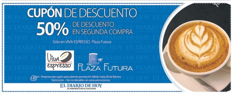 CUPON viva expresso CAFE plaza futura - 13feb15