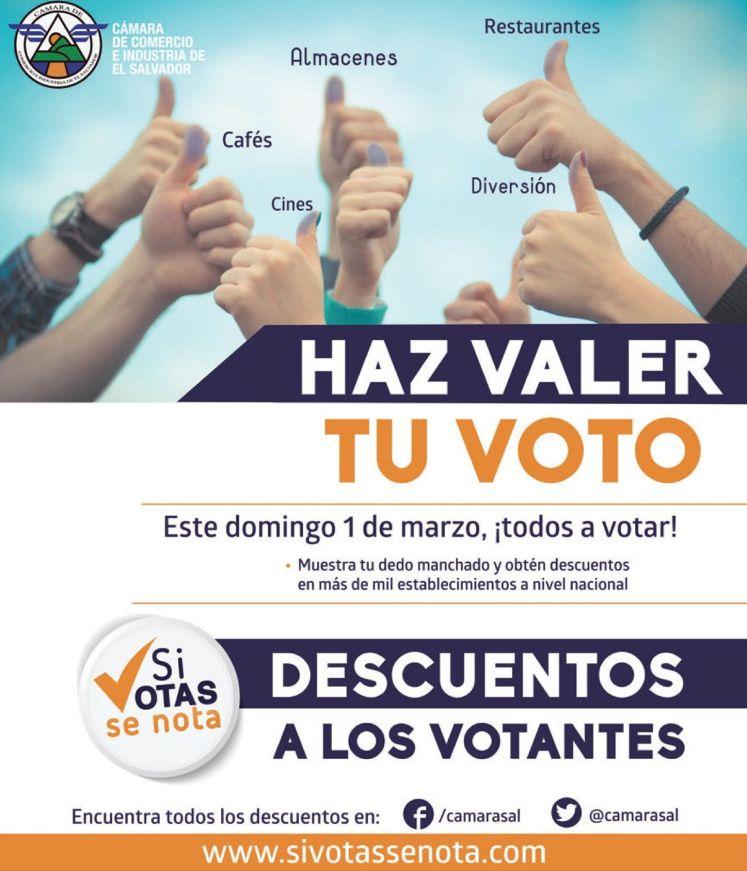 Descuentos y Promociones para los VOTANTES 2015