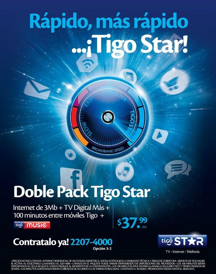 Doble pack TIGO STAR promocion - 04feb15