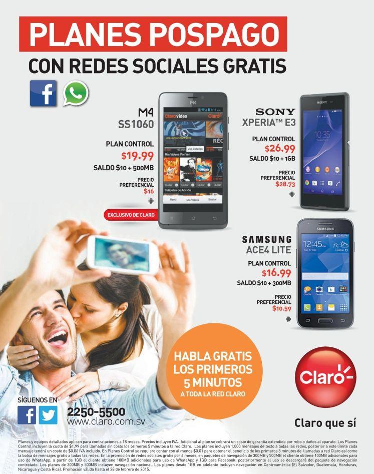 SELFIE para tu redes sociales CLARO ofertas - 23feb15