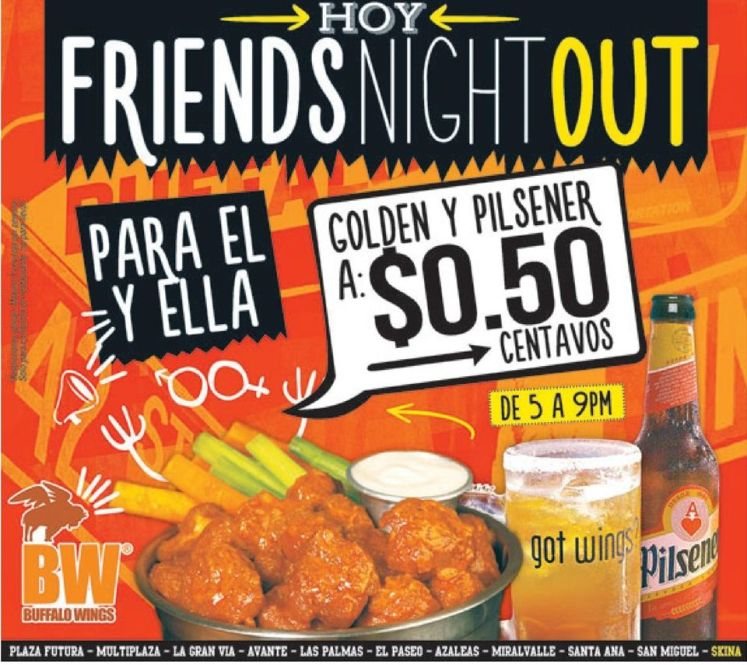 TODAY friends night out BW - 25feb15