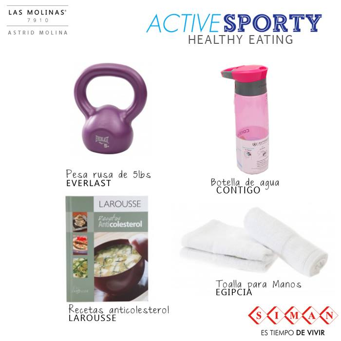 Active sporty HEALTHY EATING accesories SIMAN - 04mar15