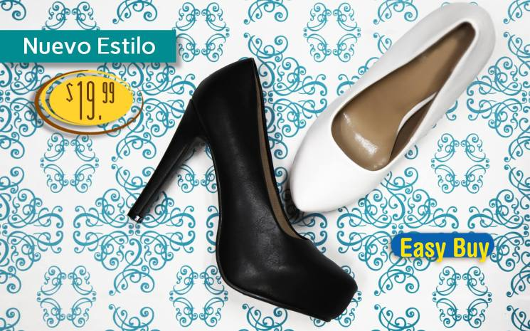 Black and white shoe trend for her EASY BUY catalog