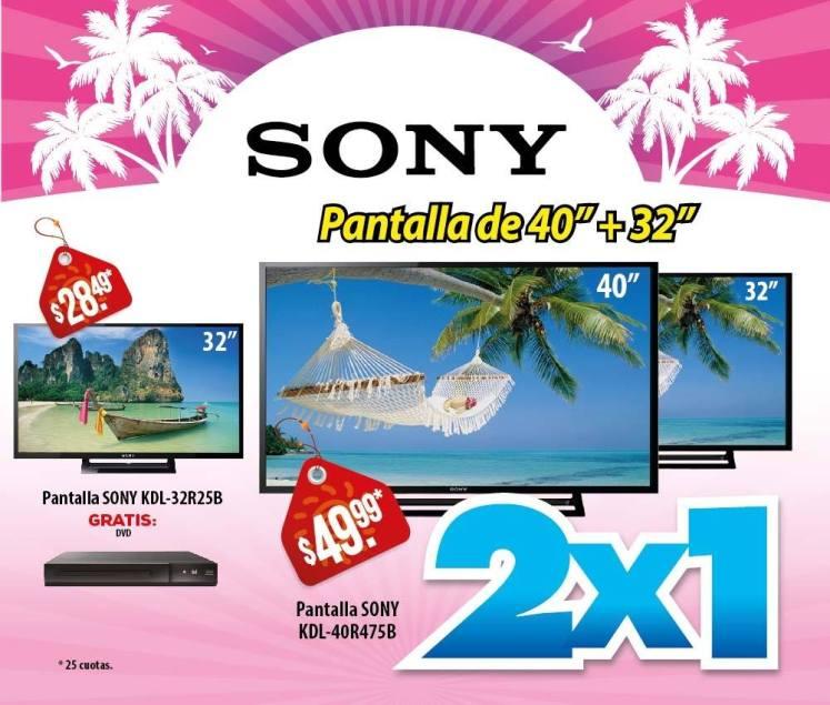 Fabulosa promocion WAY llevate dos pantalla SONY - 19mar15
