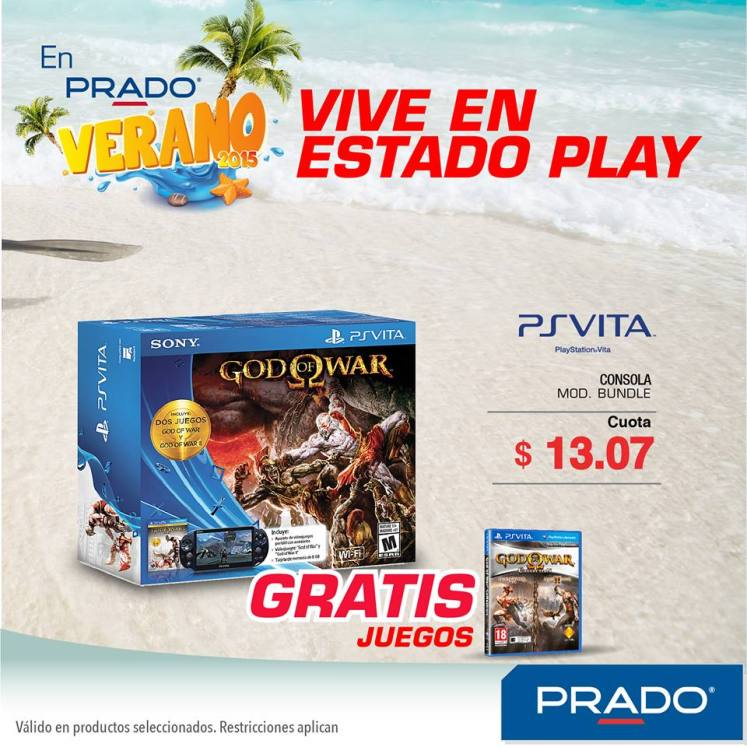 God of war edition PS VITA promocion PRADO - 12mar15