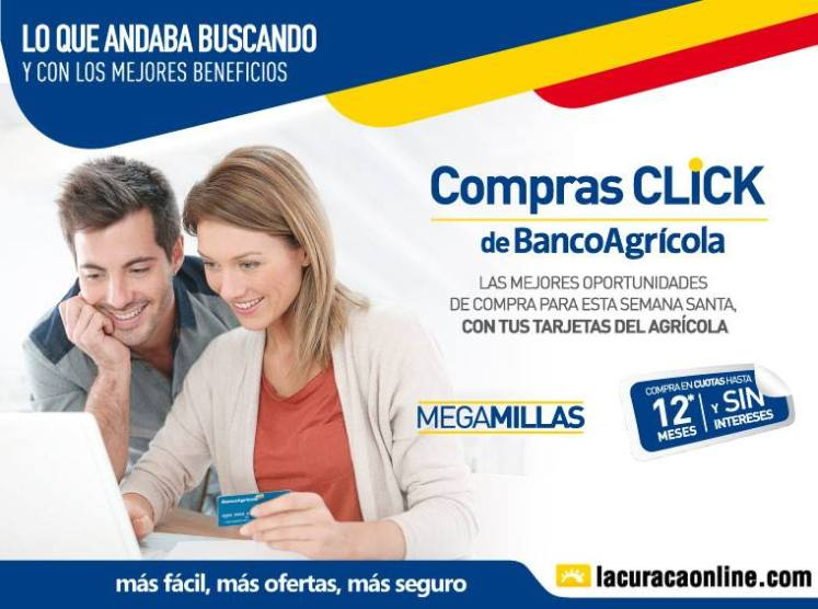 LA CURACAO more benefits for your ONLINE shopping with banco agricola