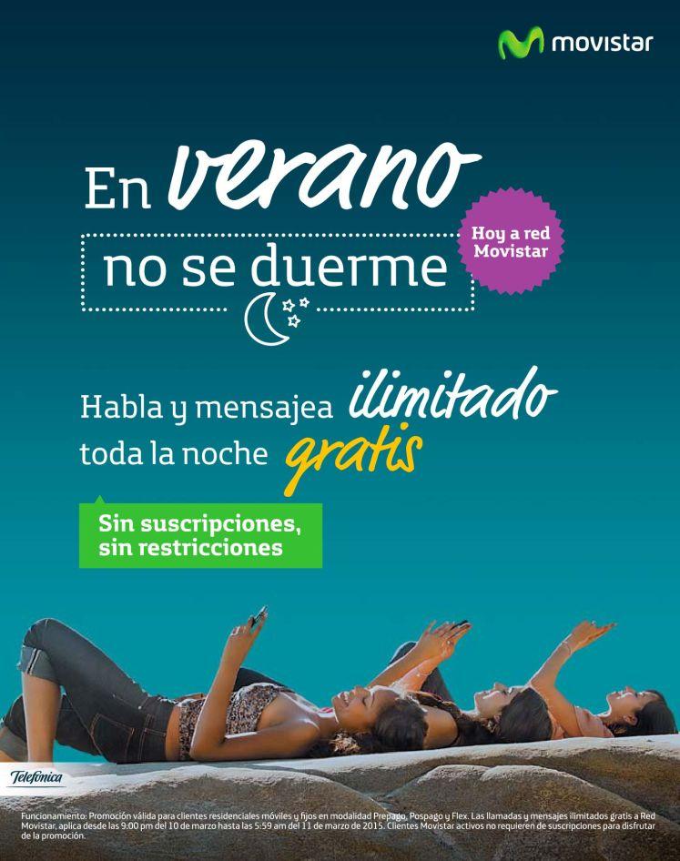 Promociones nocturnas movistar TODO GRATIS - 10mar15