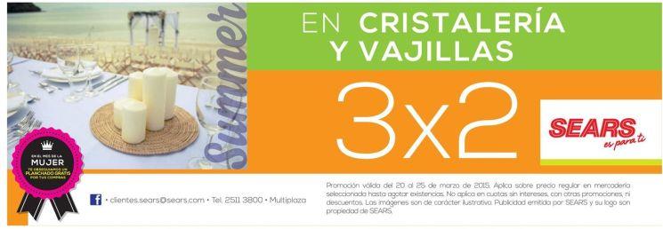 SUMER promotions SEARS 3x2 vajillas y cristaleria - 21mar15