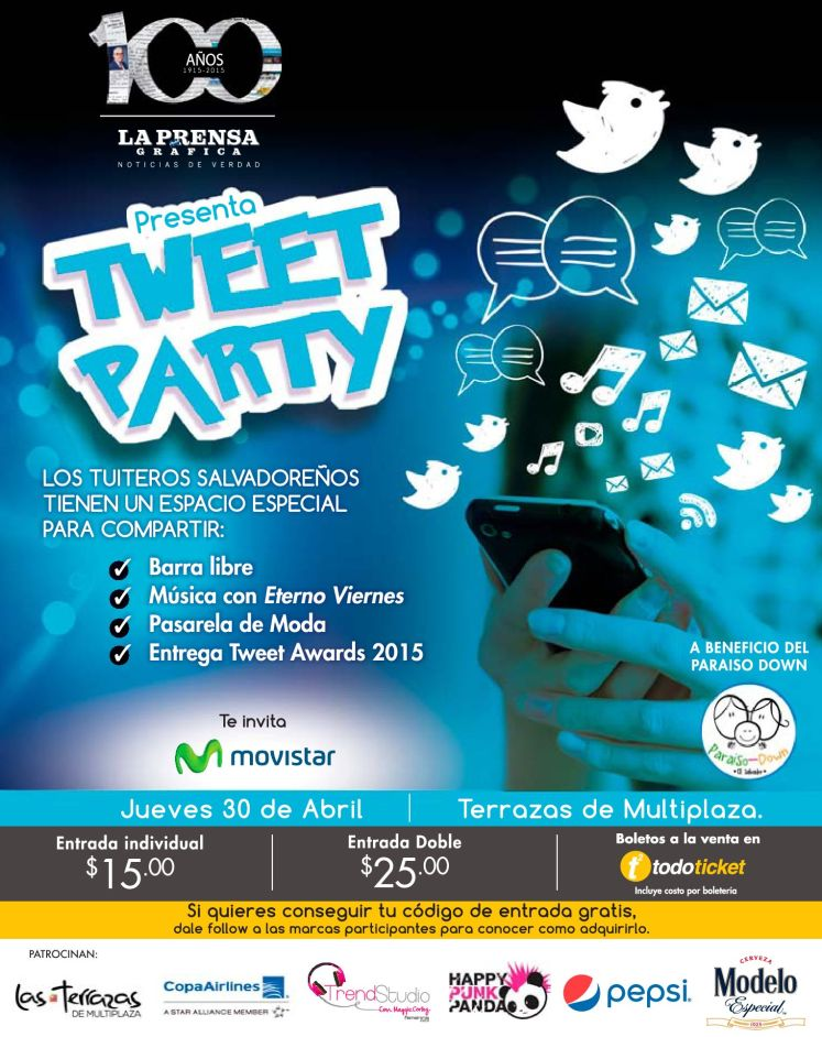 La prensa grafica presenta TWEET PARTY 2015