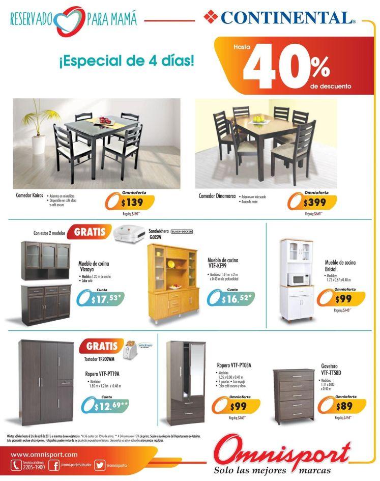 Muebles para cocina salas dormitorios con 40 OFF en OMNISPORT - 23abr15