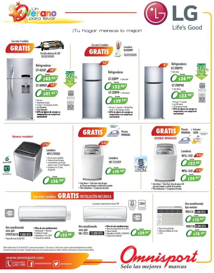 Refrigerados lavadoras cocinas y aires acondicionados LG by omnisport