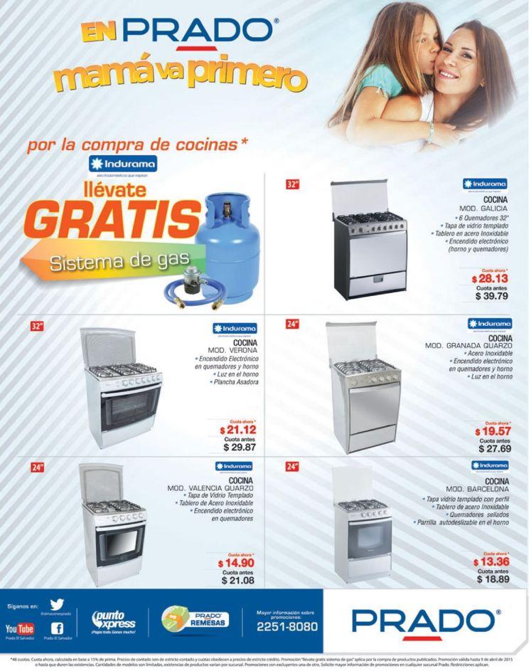Sistema de GAS PROPANO gratis por tus compras de cocinas PRADO - 06abr15