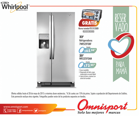 WHIRPOOL refrigerator offer with GIFT - 29abr15