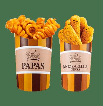 complementos aros de cebolla y deditos de queso