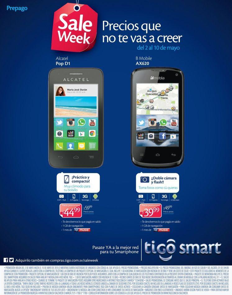 Buscas precios bajos en celulares TIGO esta es tu promocion