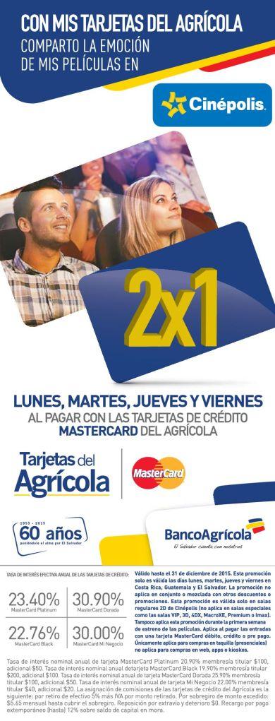 CINEPOLIS entradas al 2x1 con tus tarjetas MASTERCARD