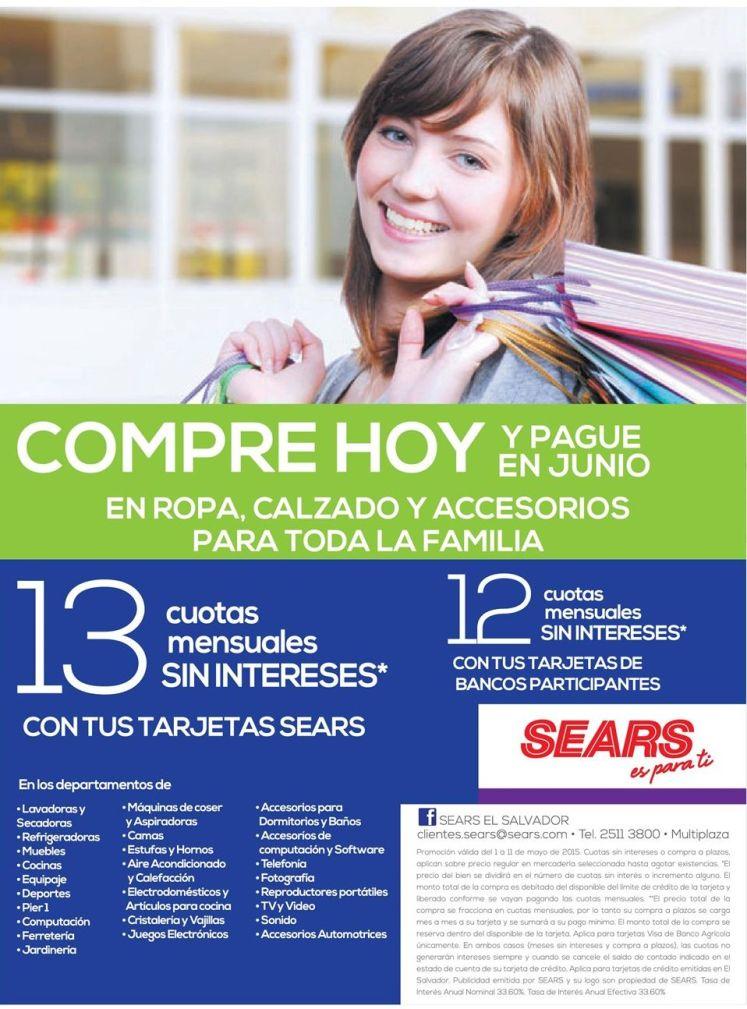 COMPRE HOY y pague en Junio solo con SEARS - 09may15
